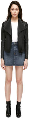 Mackage PINA-L Fitted leather jacket with short length