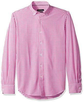 Bugatchi Men's Tapered Fit Gingham Checks Button Down Shirt