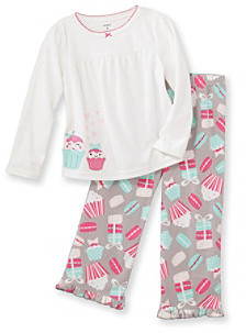 Carter's Girls' 4-14 White 2-pc. Cupcake Pajama Set