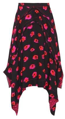 Proenza Schouler Floral-printed crêpe skirt