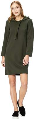 Daily Ritual Women's Cotton Modal Terry Hooded Sweatshirt Dress Dress