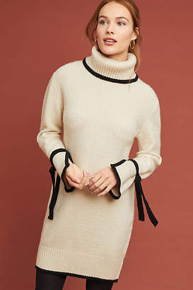 J.o.a. Bow-Tied Turtleneck Dress