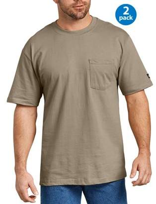 Dickies Genuine Men's Short Sleeve Heavy Weight Pocket T-Shirt, 2-Pack