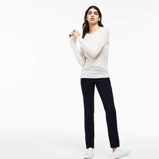 Lacoste Women's Regular Fit Stretch Cotton Gabardine Chino Pants