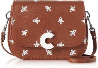 Coccinelle Craquante Razzo Printed Leather Small Shoulder Bag