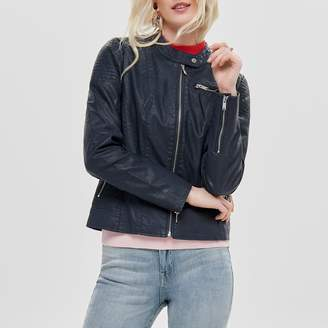 Only Faux Leather Short Jacket