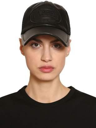 Juun.J Leather & Mesh Trucker Hat W/ Patch