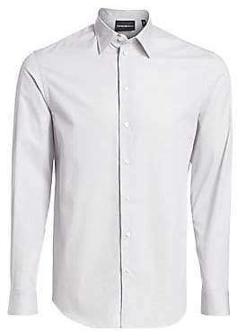 Emporio Armani Men's Micro-Diamond Button-Down Shirt