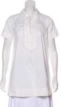 Diane von Furstenberg Short Sleeve Woven Tunic