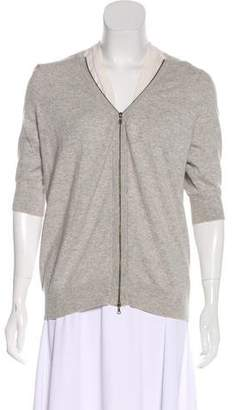 Marni Cashmere Zip-Up Cardigan