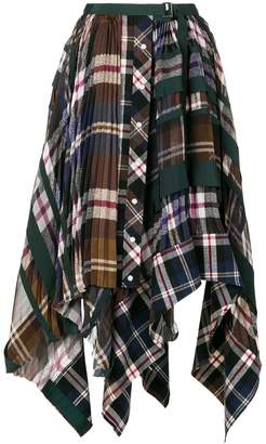 Sacai plaid and pleated skirt
