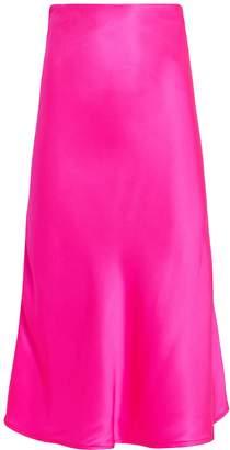 Nightcap Clothing Fuchsia Bias-Cut Silk Skirt