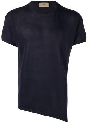 Maison Flaneur asymmetric short-sleeved jumper
