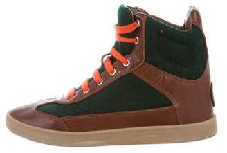 Tory Burch Colorblock High-Top Sneakers
