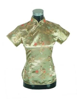 story. Shanghai Chinese Cheongsam Shirt Short Sleeve China Blouse for Women 6 R
