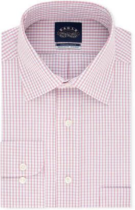 Eagle Men Classic/Regular Fit Non-Iron Flex Collar Check Dress Shirt