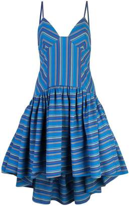Rosie Assoulin striped high-low dress