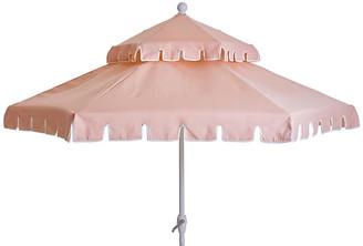 One Kings Lane Poppy Two-Tier Patio Umbrella - Pink