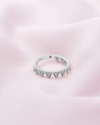 Ted Baker ALMAAR 9ct white gold and diamond crown ring