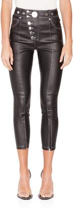 Alexander Wang High-Waisted Coated Multi-Snap Legging