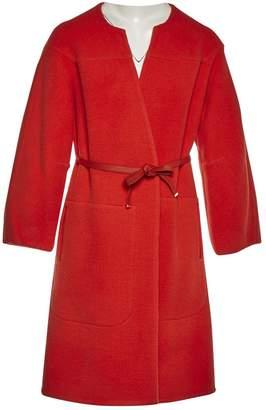 Chloé Orange Wool Coats