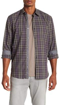 John Varvatos Plaid Slim Fit Shirt