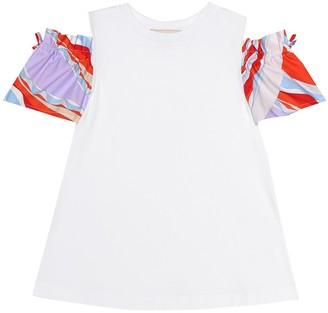Emilio Pucci Kids Printed stretch cotton top