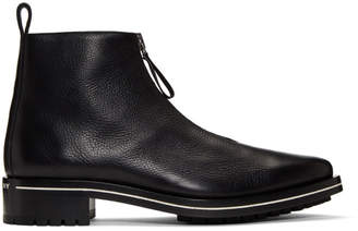 Givenchy Black Richmond Zip Boots