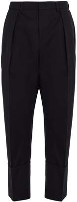 Wooyoungmi Tapered-leg cropped wool trousers