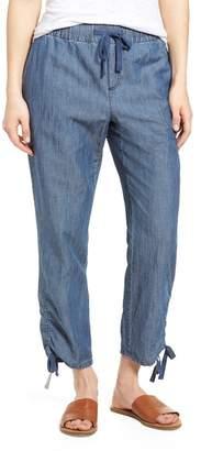 Caslon Side Ruched Crop Pants (Regular & Petite)