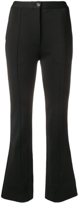 Givenchy high-waisted flared trousers