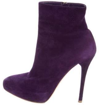 Ralph Lauren Suede Round-Toe Ankle Boots