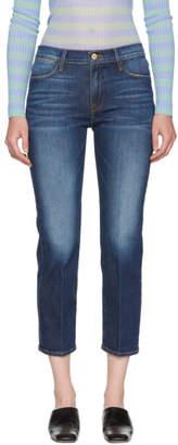 Frame Blue Le High Straight Jeans
