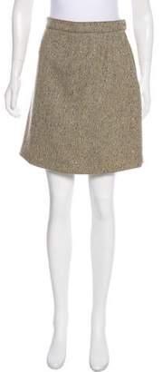 Alaia Tweed Mini Skirt