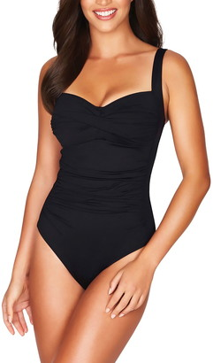 Sea Level Twist Front One-Piece Swimsuit