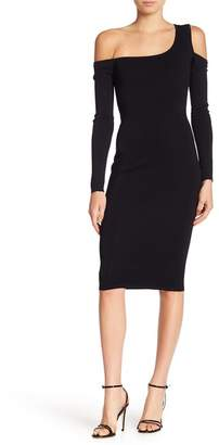 Veronica Beard Off-the-Shoulder Bodycon Knit Dress
