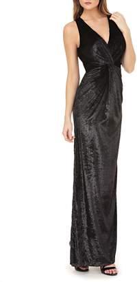 JS Collections Velvet Twist Gown
