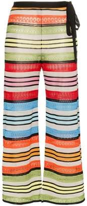 Mary Katrantzou rego stripe wide leg trousers
