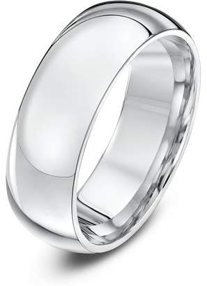 Theia Palladium 950 Super Heavy - Court Shape 7mm Wedding Ring - Size K