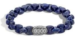 John Hardy Batu Classic Sterling Silver and Lapis Lazuli Bracelet