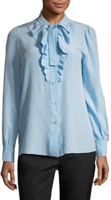 Prada Women's Silk Ruffle Blouse
