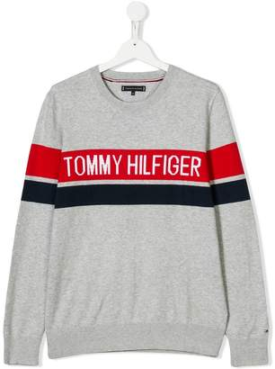 Tommy Hilfiger Junior branded stripe sweater