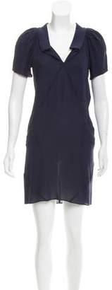 Balenciaga Silk Chiffon Mini Dress