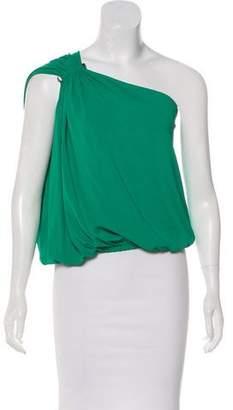 Lanvin One-Shoulder Sleeveless Top