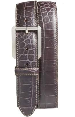 Bosca Embossed Leather Belt