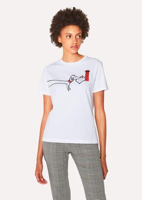 Paul Smith Women's White 'Paul's Letter' Print T-Shirt