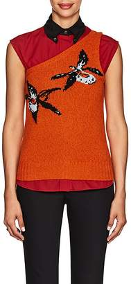 Prada Women's Orchid-Knit Wool-Cashmere One-Shoulder Sweater