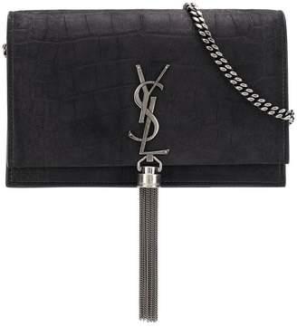 Saint Laurent front logo crossbody bag