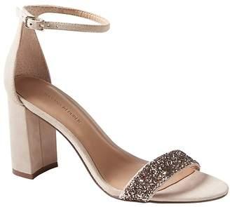 Banana Republic Bare High Block-Heel Glitter Sandal