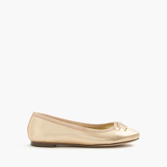 Girls' classic metallic leather ballet flats $68 thestylecure.com